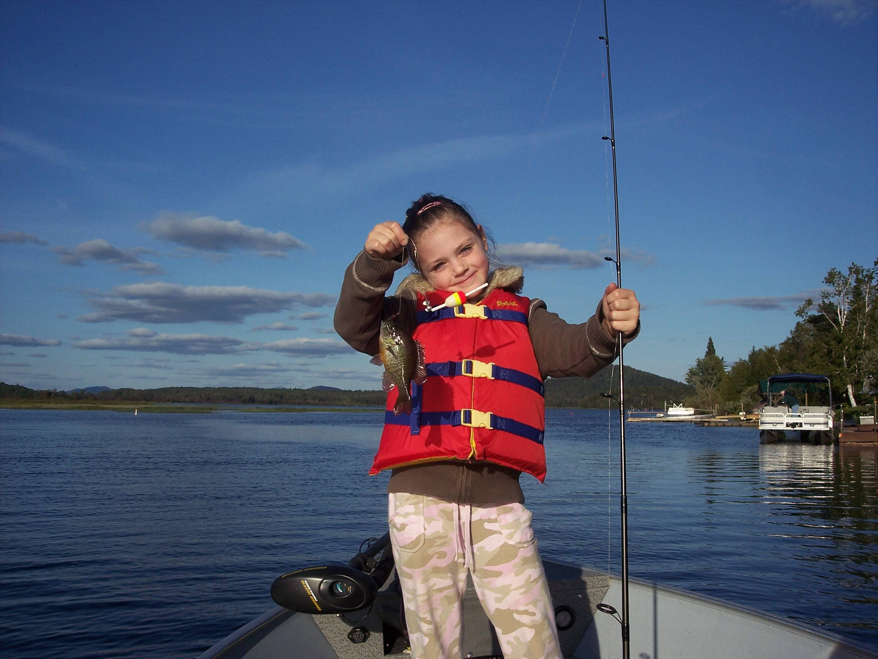 Adirondack fishing at red top inn lakefront motel resort for Kids fishing gear